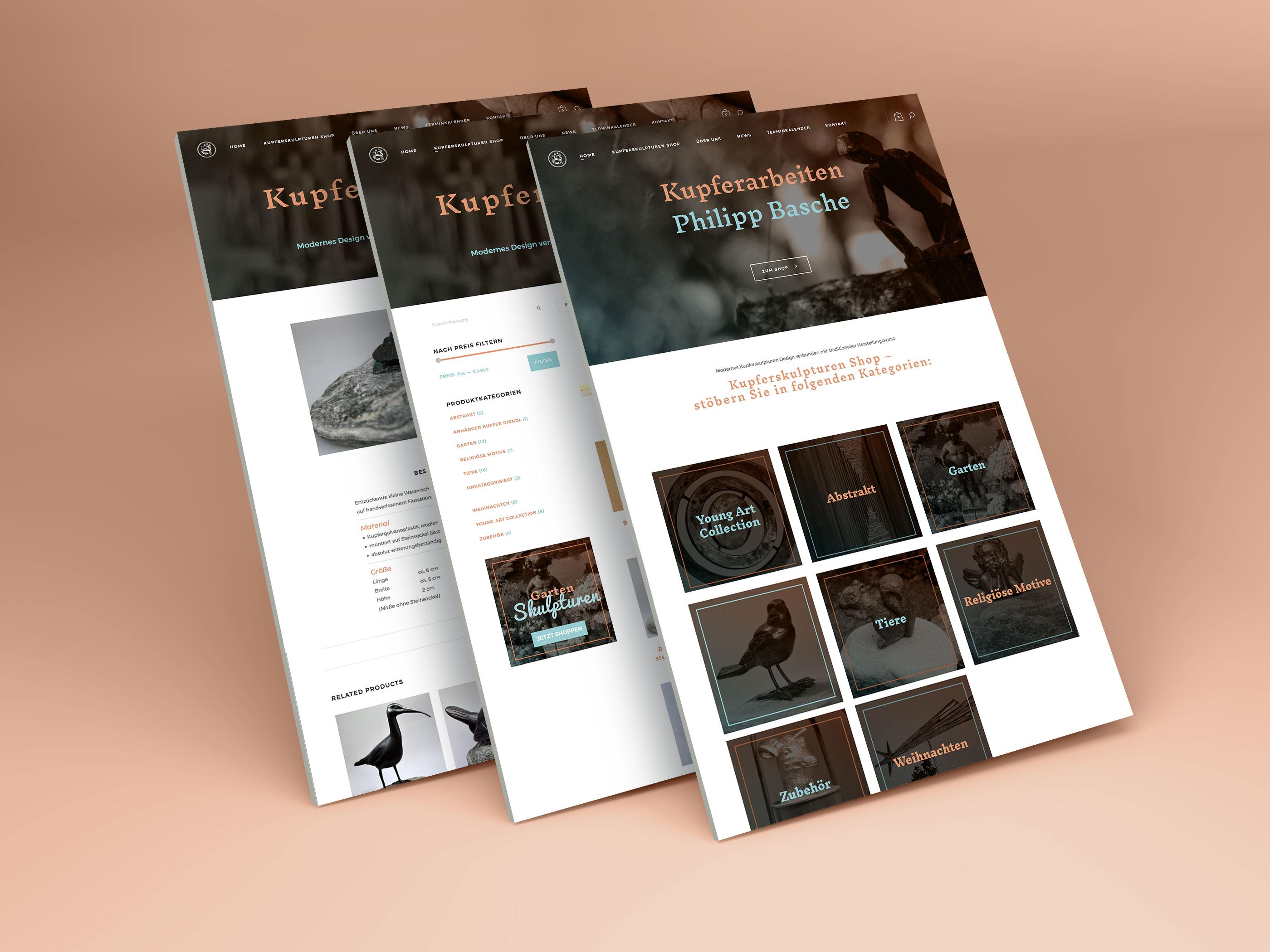 Kupfershop Website